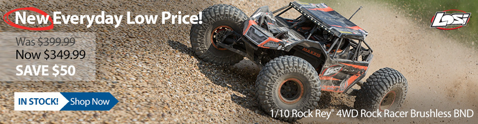 New Outlet Price! Losi 1/10 Rock Rey 4WD Rock Racer Brushless BND