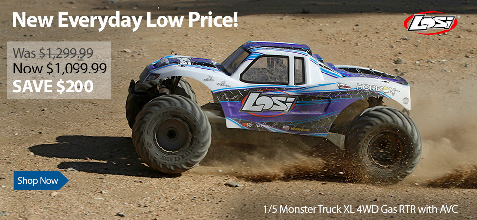 Losi 1 5 Monster Truck Xl 4wd Gas Rtr With Avc