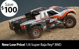 Losi 1/6 Super Baja Rey 4WD Desert Truck BND with AVC
