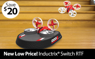Blade Inductrix Switch RTF Indoor Micro RC Drone and Hovercraft