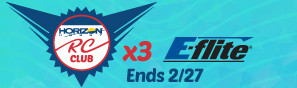 Get Triple RC Rewards Points on all E-flite items through February 27, 2019