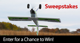 Enter for a chance to win an E-flite Timber X 1.2m BNF Basic