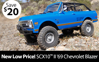 Axial 1/10 SCX10 II '69 Chevrolet Blazer 4WD RTR New Low Price