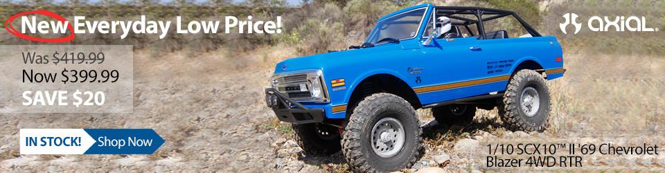New Everyday Low Price! Axial SCX10 II '69 Chevrolet Blazer 4WD RTR