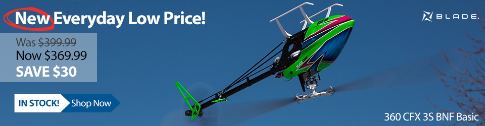 New Everyday Low Price! Blade 360 CFX 3S BNF Basic 3D Aerobatic Helicopter