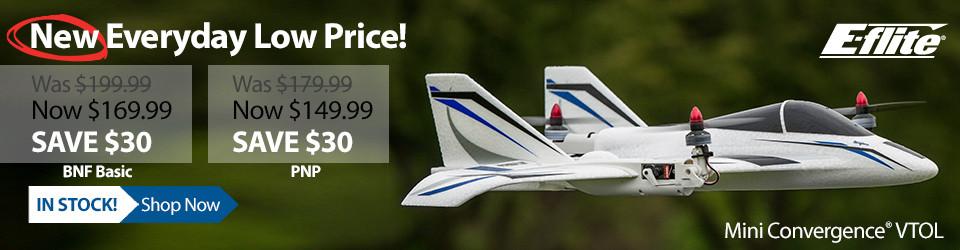 New Everyday Low Price! E-flite Mini Convergence VTOL Aircraft