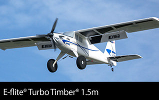 E-flite Turbo Timber 1.5m STOL Sport Airplane with Floats, BNF Basic and PNP