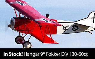 In Stock Hangar 9 Fokker D.VII 30-60cc