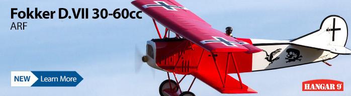 New! Hangar 9 Fokker D.VII 30-60cc ARF Giant Scale WWI Warbird Biplane