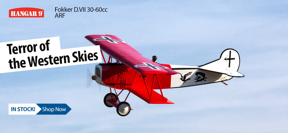 Hangar 9 Fokker D.VII 30-60cc ARF Giant Scale WWI Warbird Biplane