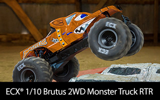 ECX 1/10 Brutus 2WD Monster Truck Brushed RTR