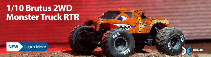 New! ECX 1/10 Brutus 2WD Monster Truck Brushed RTR