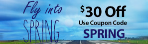 Fly Into Spring Sale - Save $30 with code SPRING through March 31, 2019 - Click to see more in this sale