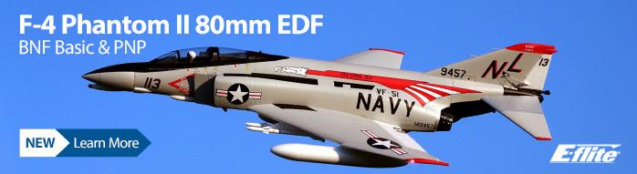 New! E-flite F-4 Phantom II 80mm EDF Jet Warbird