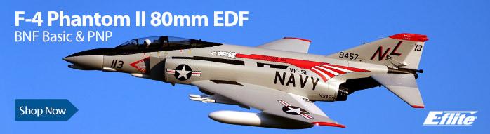 E-flite F-4 Phantom II 80mm EDF BNF Basic with AS3X & SAFE Select