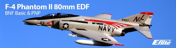 E-flite F-4 Phantom II 80mm EDF Extra Scale Jet Warbird