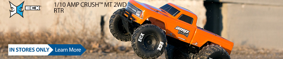 New In Stores! ECX 1/10 AMP CRUSH MT 2WD RTR