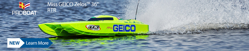 New! Pro Boat Miss GEICO Zelos 36-inch Twin Brushless Catamaran RTR