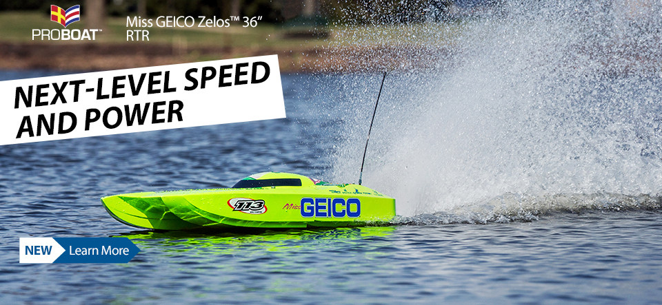 Pro Boat Miss GEICO Zelos 36-inch Twin Brushless Catamaran RTR