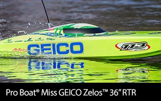 Pro Boat Miss GEICO Zelos 36
