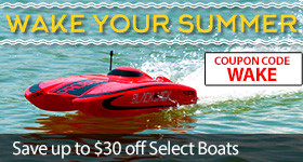 Save up to $30 on select Pro Boat with code WAKE through April 30, 2019