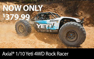 Axial 1/10 Yeti 4WD Rock Racer Brushless RTR Clearance