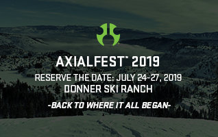 Save the Date for Axialfest 2019 - July 24-27, 2019