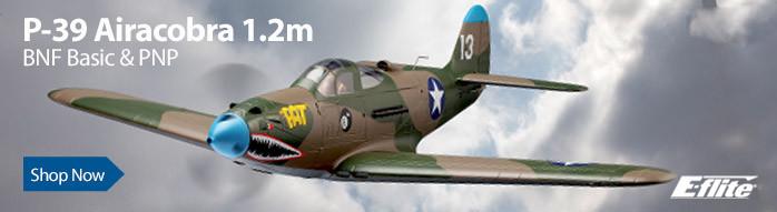 E-flite P-39 Airacobra 1.2m