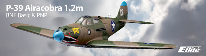 E-flite P-39 Airacobra 1.2m BNF Basic and PNP Airplane