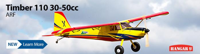 New! Hangar 9 Timber 110 30-50cc ARF Airplane