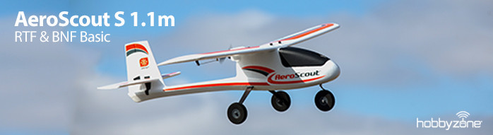 HobbyZone AeroScout S 1.1m RTF and BNF Basic