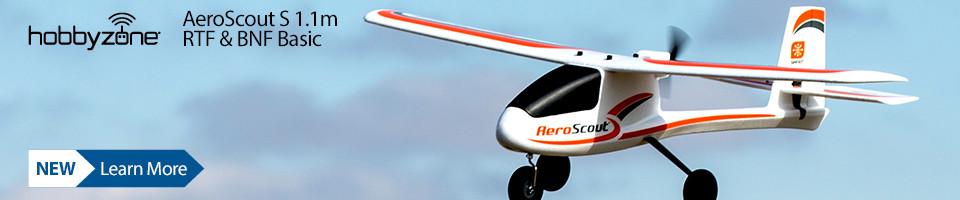 New! HobbyZone AeroScout S 1.1m RTF or BNF Basic