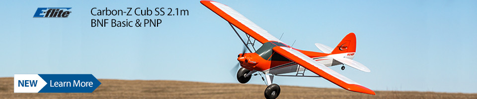 New! E-flite Carbon-Z Cub SS 2m PNP and BNF Basic with AS3X and SAFE Select Airplane