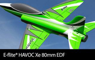 Available E-flite HAVOC Xe 80mm EDF
