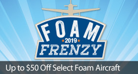 Save up to $50 on select E-flite BNF Airplanes with code FOAM through April 30, 2019
