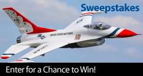 Enter for a chance to win an E-flite F-16 Thunderbirds 70mm EDF Jet BNF Basic