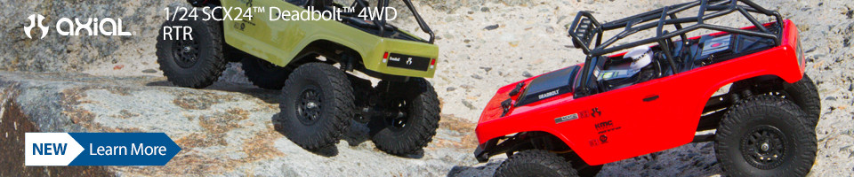 New! Axial SCX24 Deadbolt 1/24th Scale 4WD RTR Rock Crawler