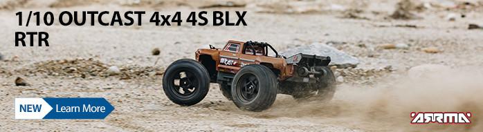 New! ARRMA 1/10 OUTCAST 4S BLX Stunt Truck 4WD RTR