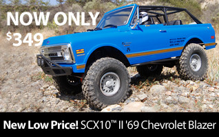 New Low Price on Axial 1/10 SCX10 II 1969 4WD Chevy Blazer RTR