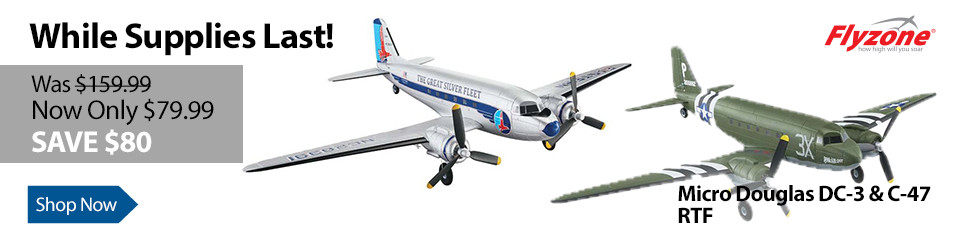 The Flyzone Micro Douglas Airliner and C-47 Skytrain RTF