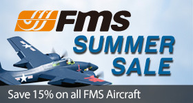Save 15% Off on all FMS aircrafts with code FMS15