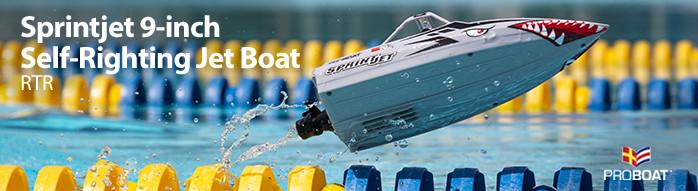 Pro Boat Sprintjet 9 Self-Righting RC Jet Boat Pool Racer
