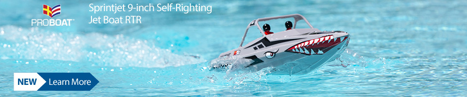 New! Pro Boat Sprintjet 9-inch Self-Righting Jet boat RTR