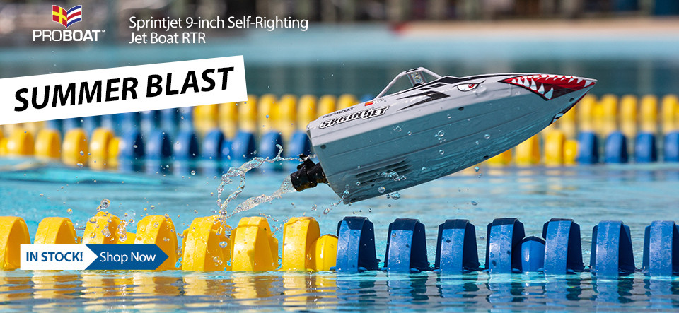 Pro Boat Sprintjet 9-inch Self-Righting Jet boat RTR
