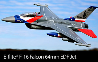 E-flite F-16 Falcon 64mm EDF Jet BNF Basic and PNP