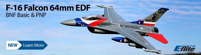 New! E-flite F-16 Falcon 64mm EDF BNF w/AS3X & SAFE Select