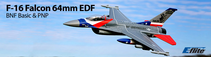 F-16 Falcon 64mm EDF RC Jet Aircraft BNF Basic and Plug and Play