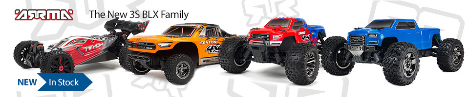New In Stock! ARRMA 3S BLX 4WD Family of RC Trucks and Buggy