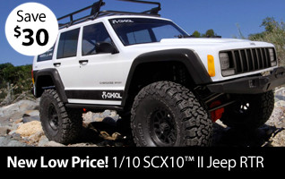 New Low Price! Save $30 on the Axial 1/10 SCX10 II Jeep RTR