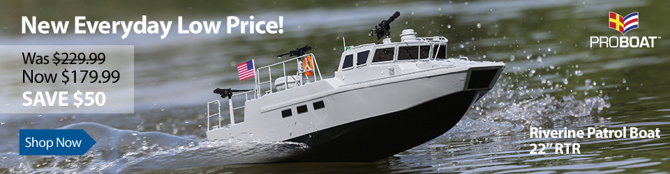 New Everyday Low Price! Pro Boat Riverine Patrol Boat 22 RTR